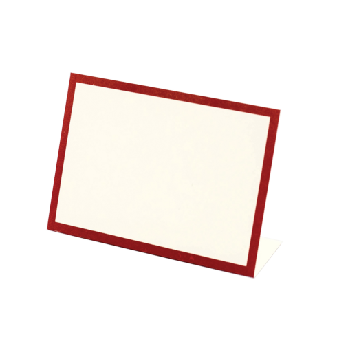 $6.50 RED FRAME PLACE CARD - BOTTOM FOLD - PACK OF 12