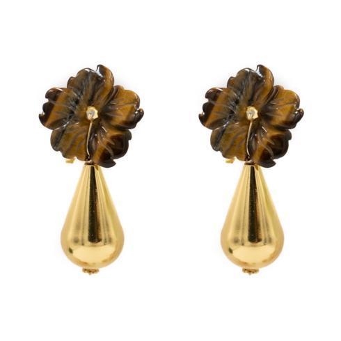 $170.00 Kennedy Earring, Tigers Eye