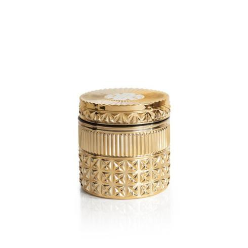 $38.00 Exotic Blossom & Basil Gilded Muse Faceted Jar