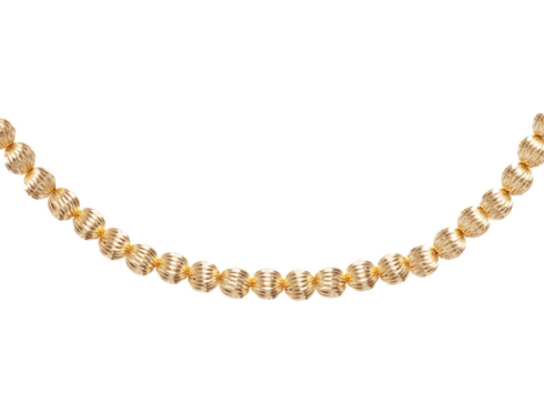 "$195.00 15"" Choker Dignity Gold 6mm Bead"