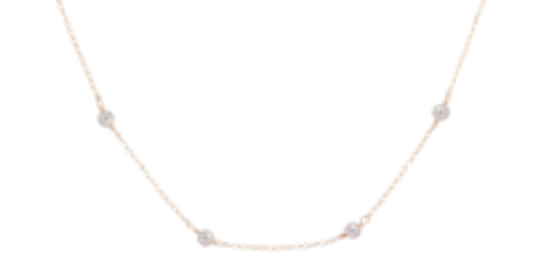 "$75.00 15"" Choker Simplicity Chain Gold - 4mm Bead Pearl"
