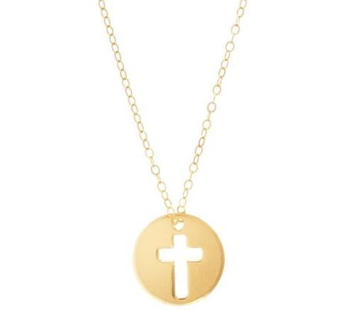 """$52.00 16"""" Necklace Gold - Blessed Charm"""