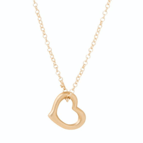 "$48.00 16"" Necklace Gold - Love Gold Charm"