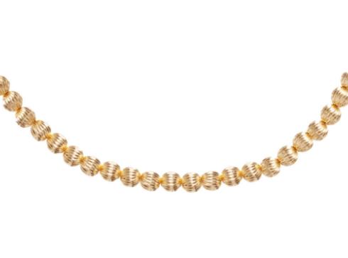 "$205.00 17"" Choker Dignity Gold 6mm Bead"