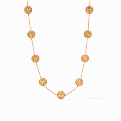 $155.00 Coin Demi Station Necklace Gold