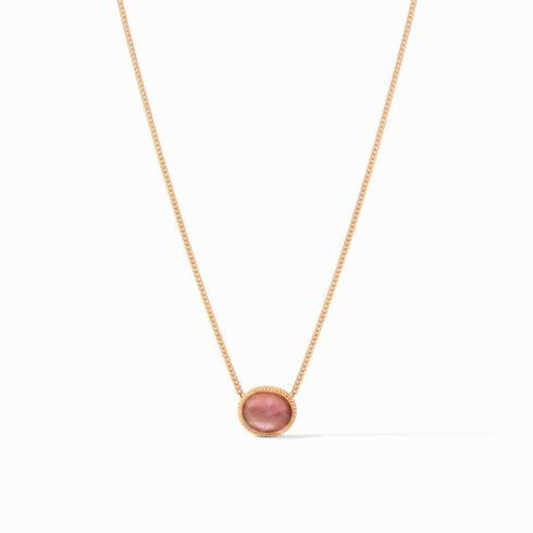 $135.00 Verona Solitaire Necklace Iridescent Bordeaux