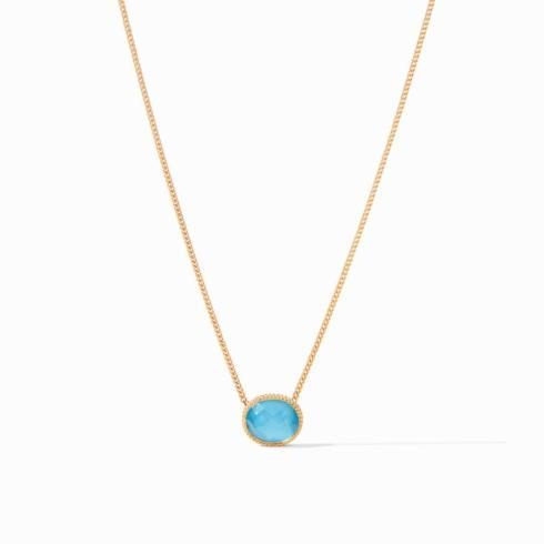 Verona Solitaire Necklace Iridescent Pacific Blue collection with 1 products