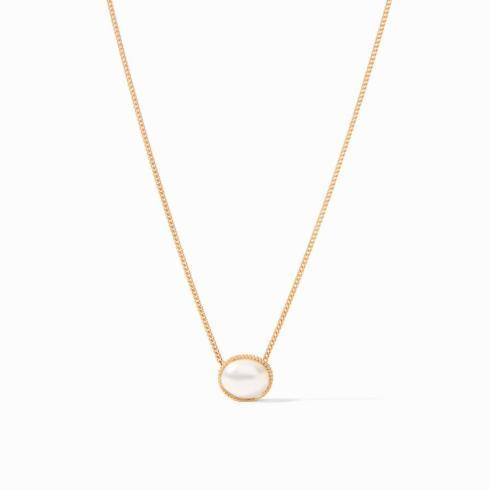 $135.00 Verona Solitaire Necklace Pearl