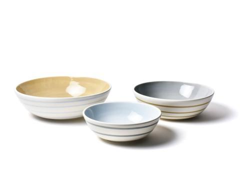 Neutral Nouveau Coupe Bowl Set of 3 collection with 1 products