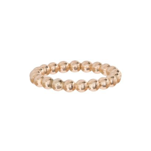 $45.00 Classic Gold 3mm Bead Ring - Size 8
