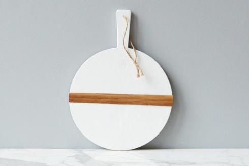 $90.00 White Round Charcuterie Board