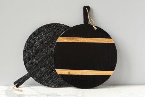 $138.00 Black Round Mod Charcuterie Board, Medium