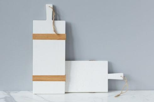 $114.00 White Rectangle Mod Charcuterie Board