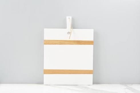 $138.00 White Rectangle Mod Charcuterie Board, Medium