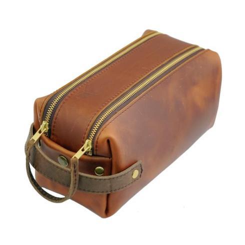 $127.50 Leather Dopp Kit - Saddle