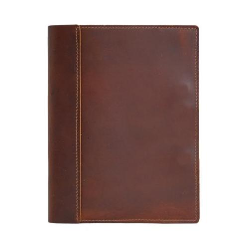 $66.00 Large Leather Composition Cover -Saddle