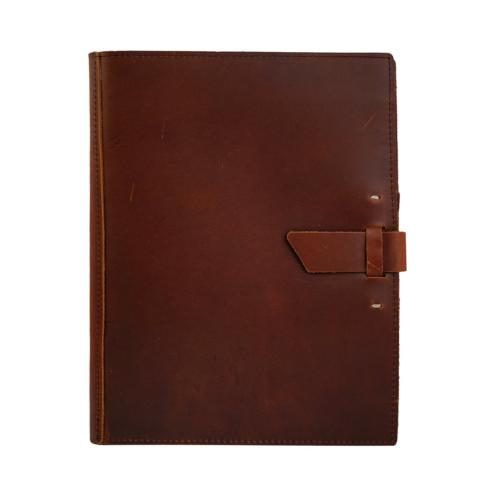 $90.00 Traveler Leather Journal- Saddle with Buckle Closure