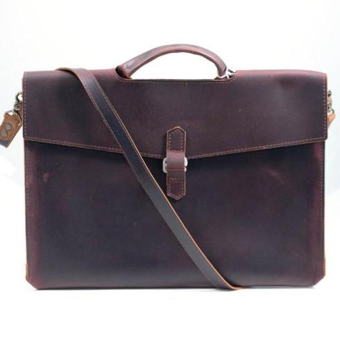 $300.00 Diplomat Leather Attache in Burgundy