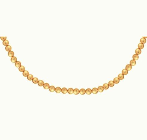 "Choker Classic Gold 3mm Bead 15"""