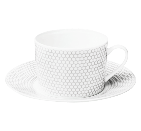 Christofle  Madison 6 Porcelain Tea/ Coffee Cup and Saucer $110.00