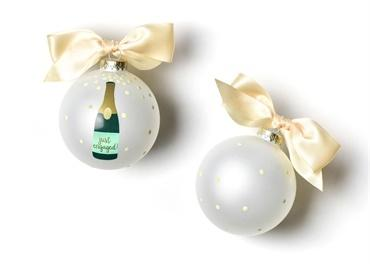 Just Engaged Champagne Pop Glass Ornament collection with 1 products