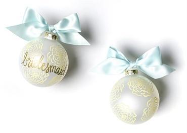 $23.95 Floral Bridesmaid Glass Ornament