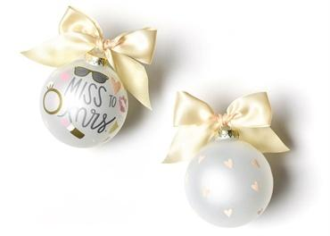 Miss To Mrs. Glass Ornament collection with 1 products