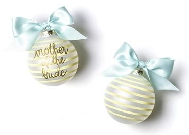 Stripe Mother Of The Bride Glass Ornament collection with 1 products