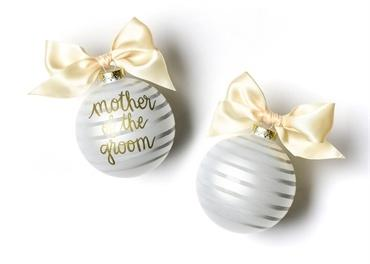 Stripe Mother Of The Groom Glass Ornament collection with 1 products