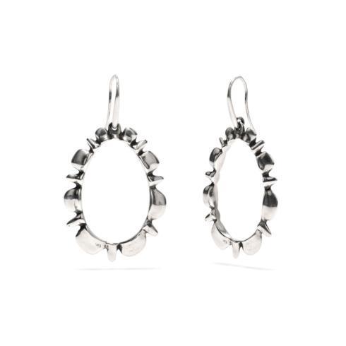 $135.00 Silver Ruffle Drop Earrings