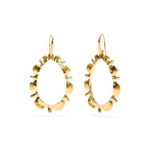 $148.50 Gold Ruffle Drop Earrings