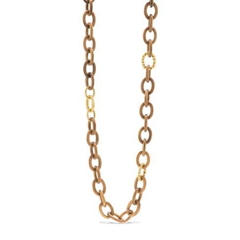 $445.50 Earth Goddess Teak Chain Necklace