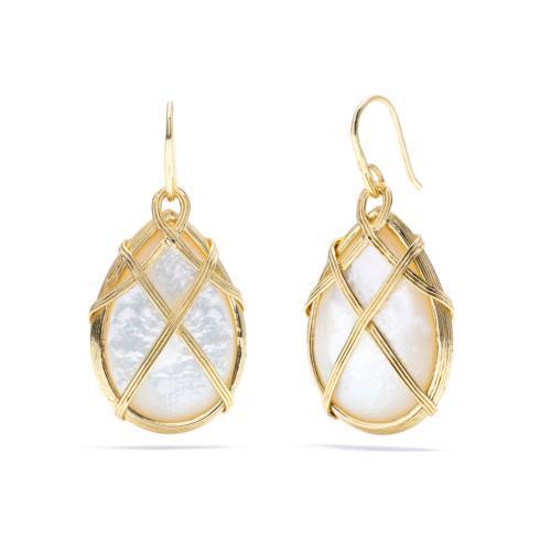 $193.50 Ocean Goddess Mother of Pearl Drop Earrings