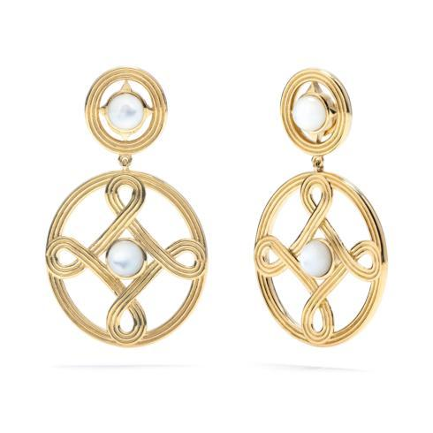 $225.00 Monique Double Earrings, Mother of Pearl