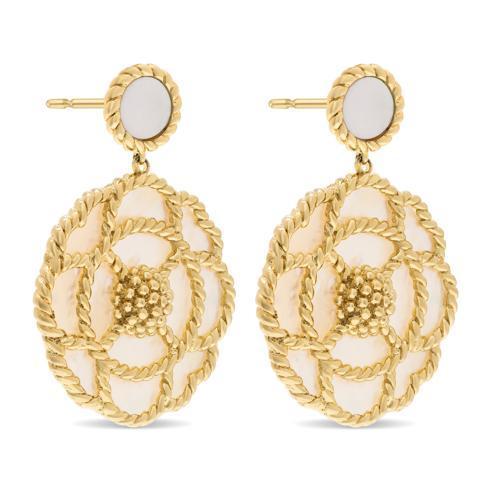 $355.50 Grand Capucine Earrings, Mother of Pearl
