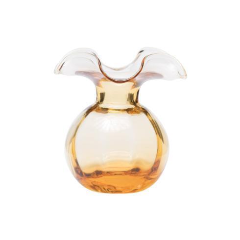 $84.00 Amber glass Vietri bud vase with custom florals