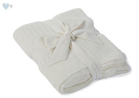 Barefoot Dreams   CozyChic Lite Ribbed Blanket, Pearl $79.00