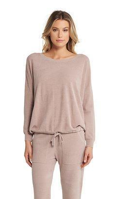 CozyChic Ultra Lite Slouchy Pullover, Faded Rose Large Large