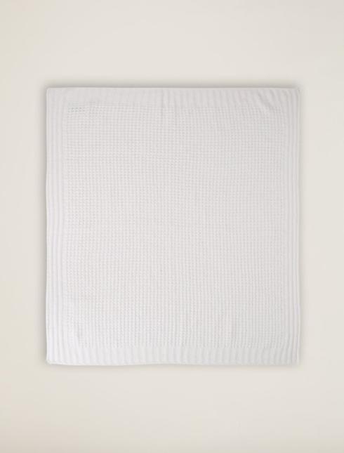 $70.00 Waffle Baby Blanket-Pearl