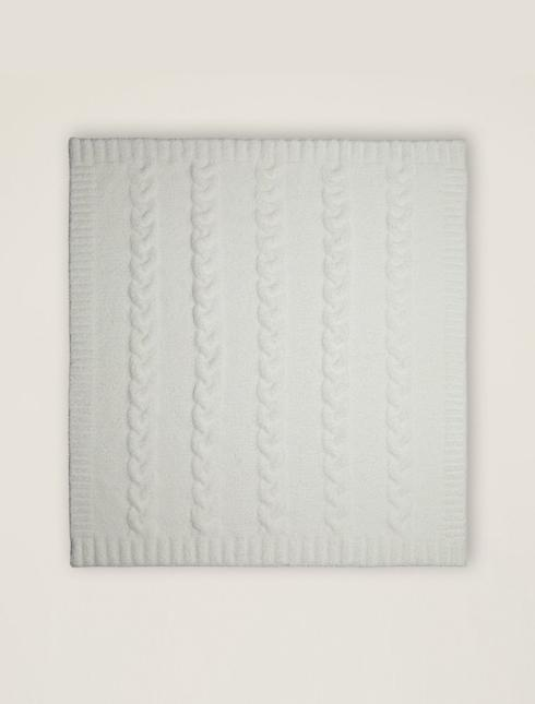 Heathered Cable Baby Blanket-Grey