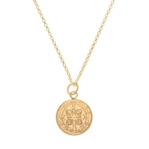 "$62.00 16"" Necklace Gold - Blessing Large Gold Charm"