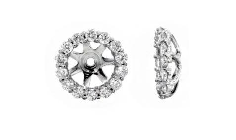 $1,250.00 14K White Gold Diamond Earring Jackets
