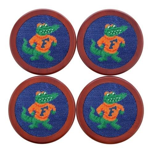 $75.00 Florida Needlepoint Coaster Set