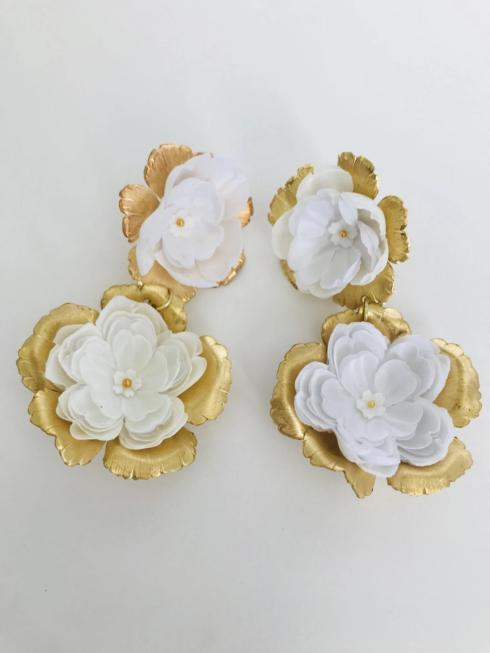 Hand Cut White Floral Drop Earring collection with 1 products