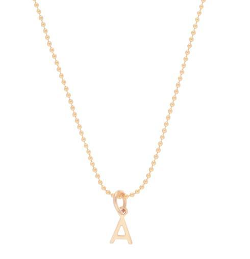 "$48.00 16"" NECKLACE GOLD Letter ""A"" Charm"