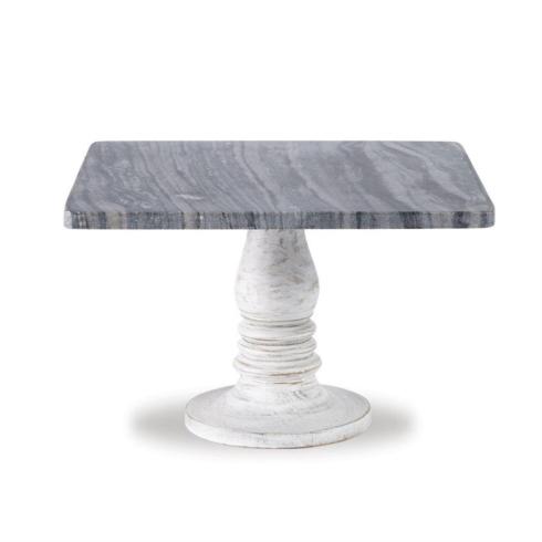 $28.80 White Wash Marble Cake Pedestal