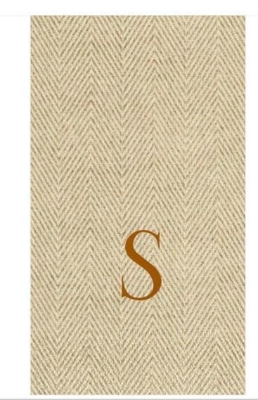 """$21.00 Guest Towel- Jute Natural """"S"""""""