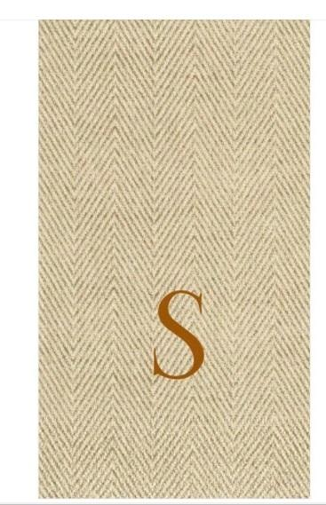 "$21.00 Guest Towel- Jute Natural ""S"""