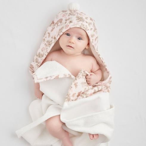 Elegant Baby   WOODLAND PRINT ORGANIC BABY BATH WRAP $44.00