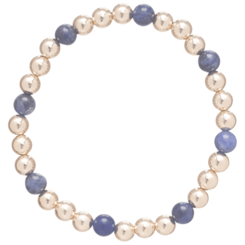 $74.00 Gold Sincerity Pattern 6mm Bead Bracelet-Soladite